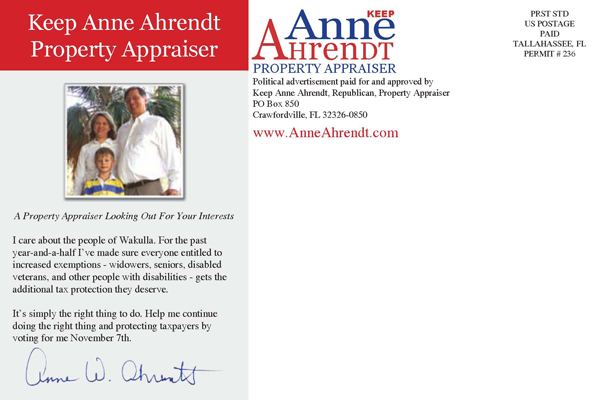 Anne Ahrendt for Property Appraiser