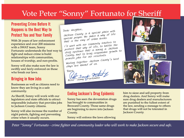 "Peter ""Sonny"" Fortunato for Sheriff"