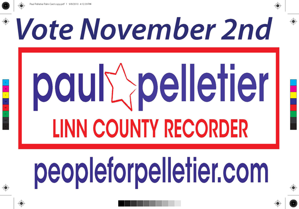 Paul Pelletier for County Recorder